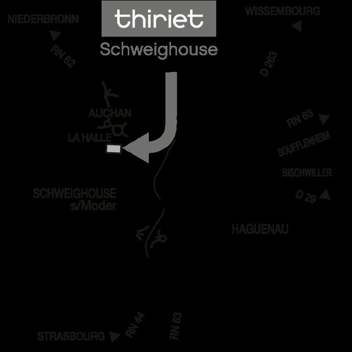 Plan Magasins Thiriet SCHWEIGHOUSE/MODER