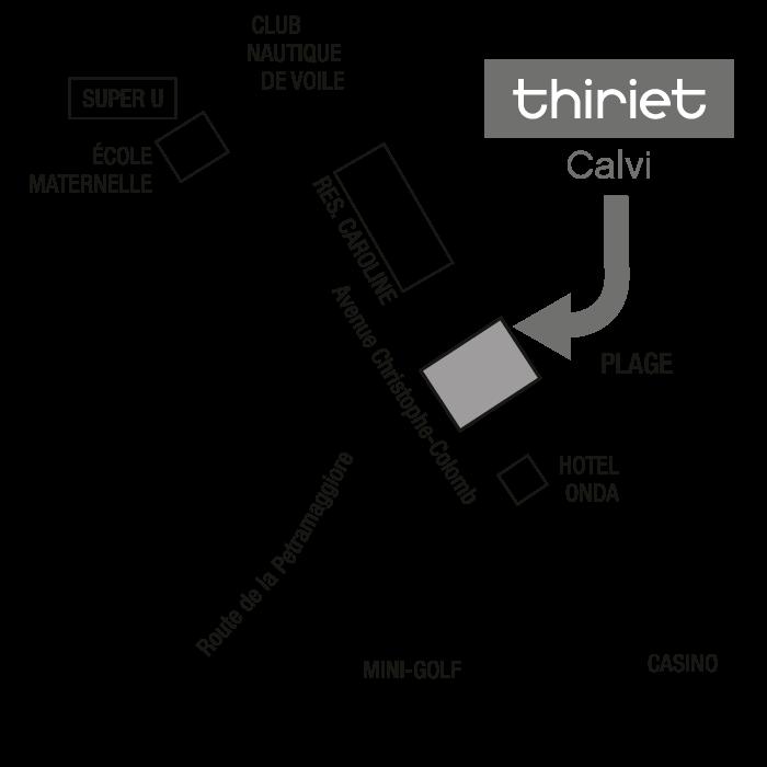 Plan Magasins Thiriet CALVI