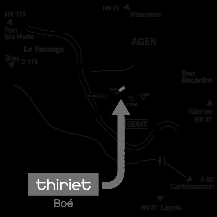 Plan Magasins Thiriet BOE
