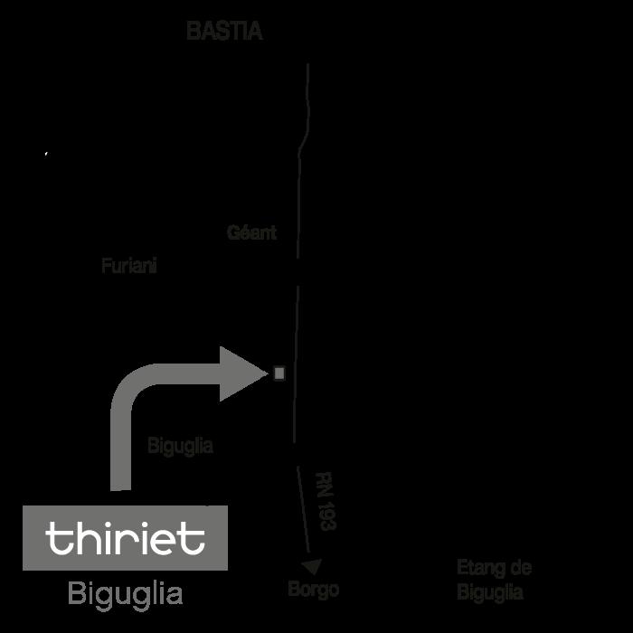 Plan Magasins Thiriet BIGUGLIA