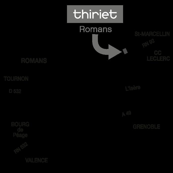 Plan Magasins Thiriet ROMANS-SUR-ISERE