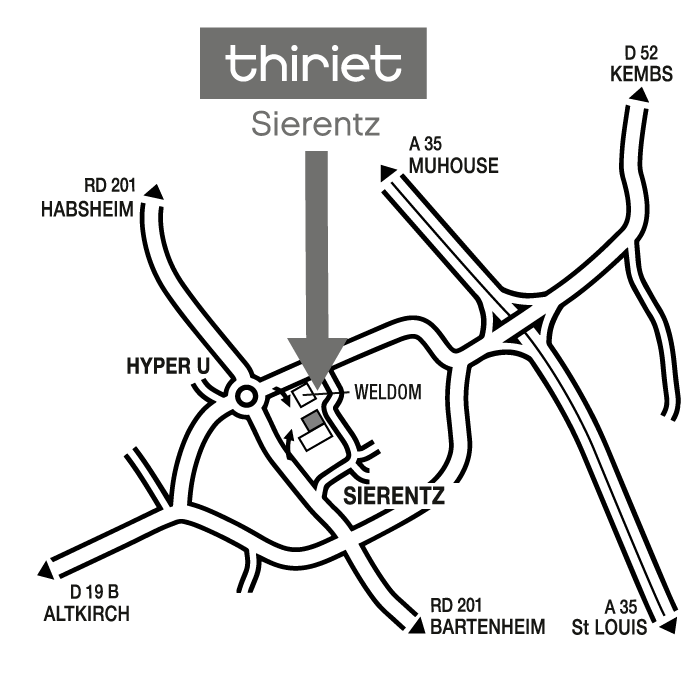 Plan Magasins Thiriet SIERENTZ