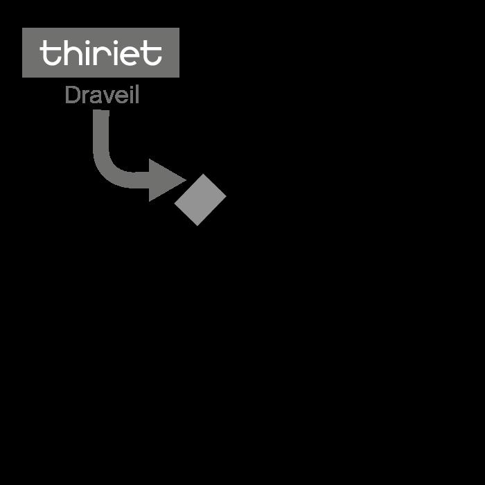 Plan Magasins Thiriet DRAVEIL