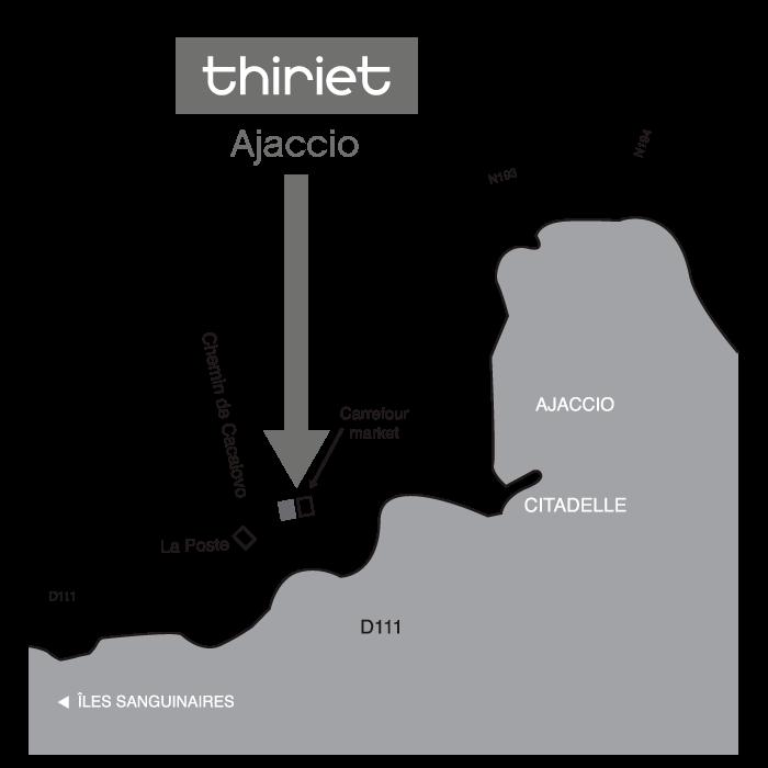 Plan Magasins Thiriet AJACCIO