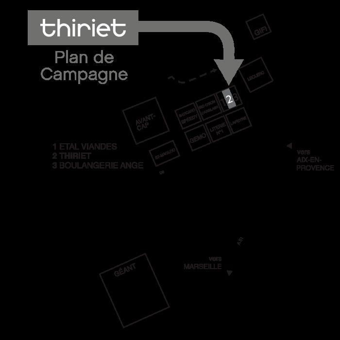 Plan Magasins Thiriet CABRIES