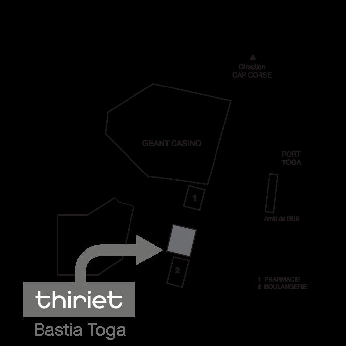 Plan Magasins Thiriet BASTIA