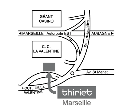 Plan Magasins Thiriet MARSEILLE