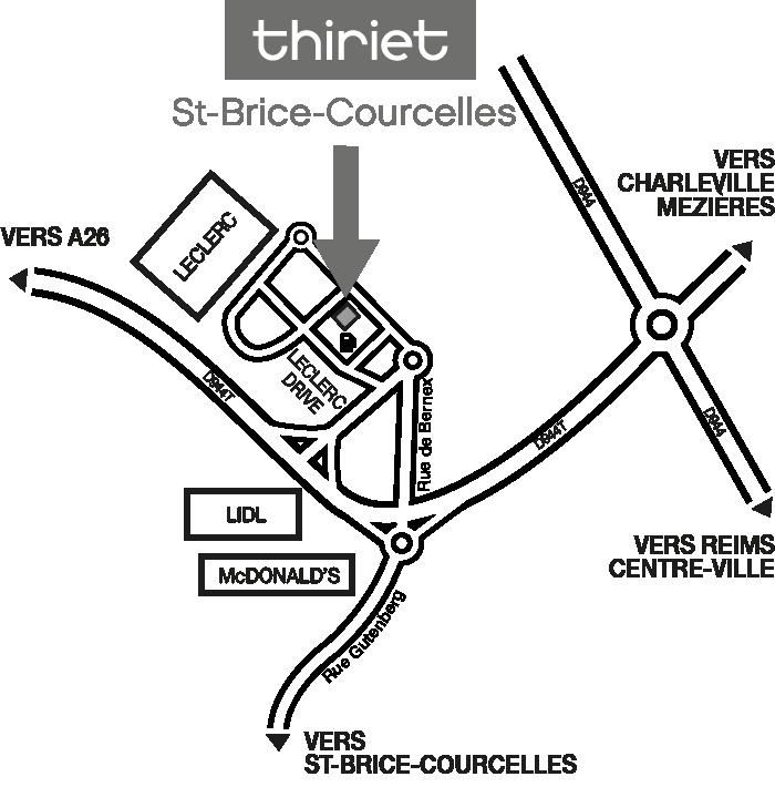 Plan Magasins Thiriet ST BRICE COURCELLES