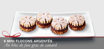 6 Mini flocons au bloc de foie gras de canard