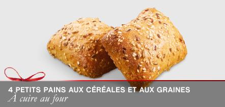 4 Petits pains aux céréales et aux graines