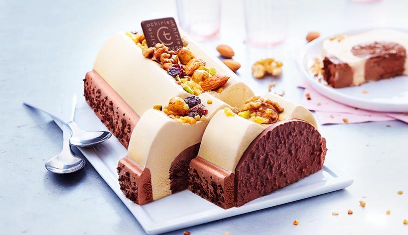 Truffé sélection façon mendiant caramel/chocolat