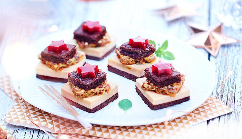 Mini sapins au bloc de foie gras de canard
