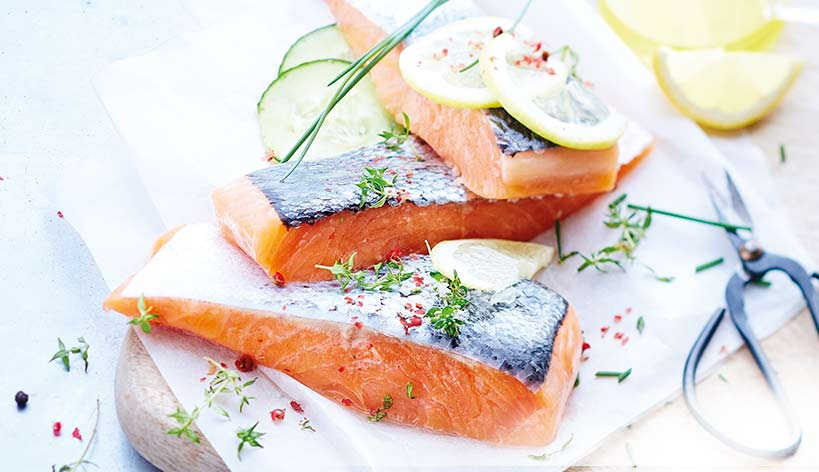Pavés de saumon Atlantique avec peau