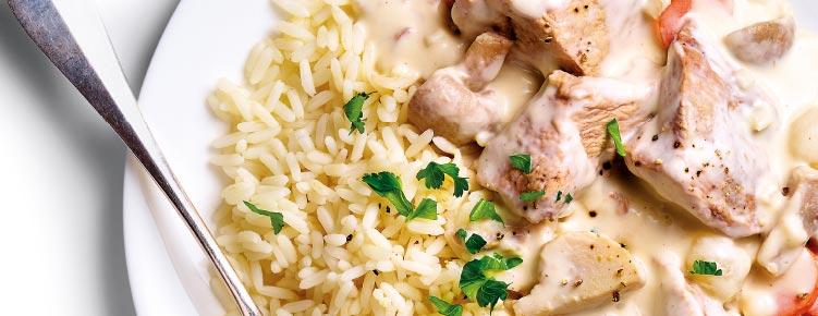 Blanquette de veau et riz