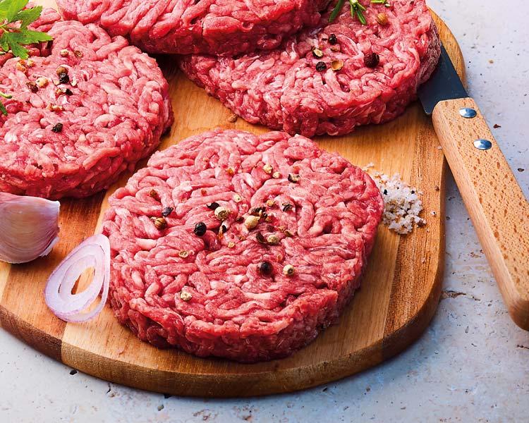 Viandes hachées - 4 Steaks hachés façon bouchère pur boeuf 5% M.G. biologiques