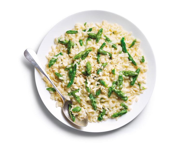 Les petits plats de la Maison Thiriet - Risotto aux pointes d'asperges vertes