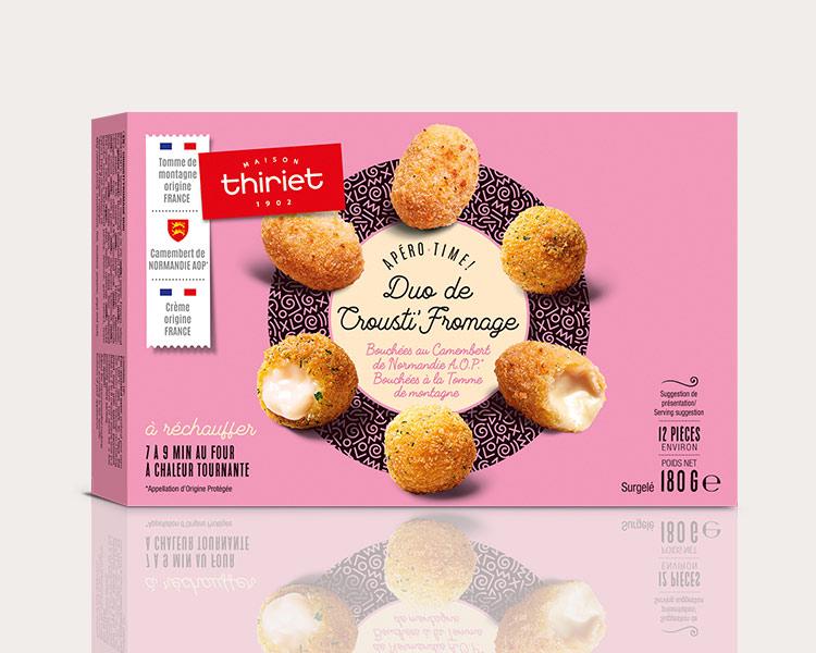 Bouchées apéritives chaudes - Duo de Crousti'fromage