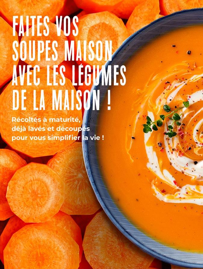 Faites vos soupes maison avec les légumes de la Maison Thiriet !