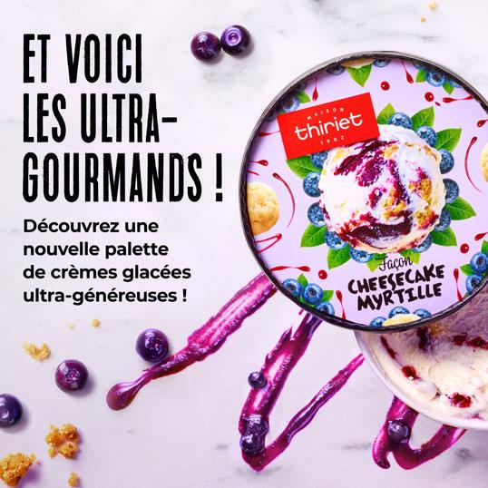 Découvrez la nouvelle palette de crèmes glacées ultra-généreuses de la Maison Thiriet !