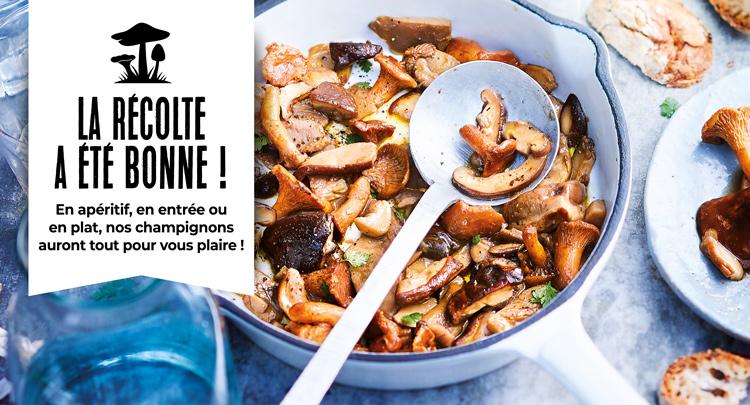 En apéritif, en entrée ou en plat, les champignons de la Maison Thiriet auront tout pour vous plaire !