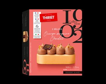 Desserts glacés - Délices orange sanguine chocolat