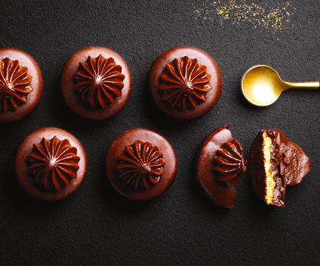Mignardises - Palets chocolat caramel