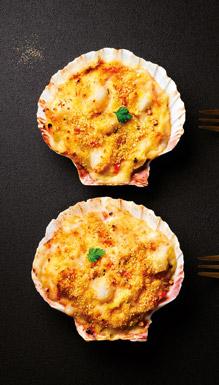 Coquilles cuisinées - Coquilles aux cabillaud et St-Jacques sauce au citron