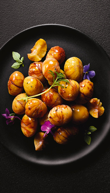 Légumes - Châtaignes entières pelées