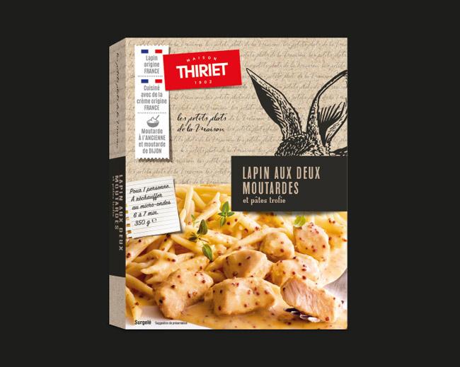 Plats cuisinés - Lapin aux deux moutardes et pâtes trofies
