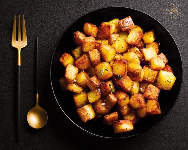 Poêlées de pomme de terre - Pomme de terre au beurre et au sel de Guérande