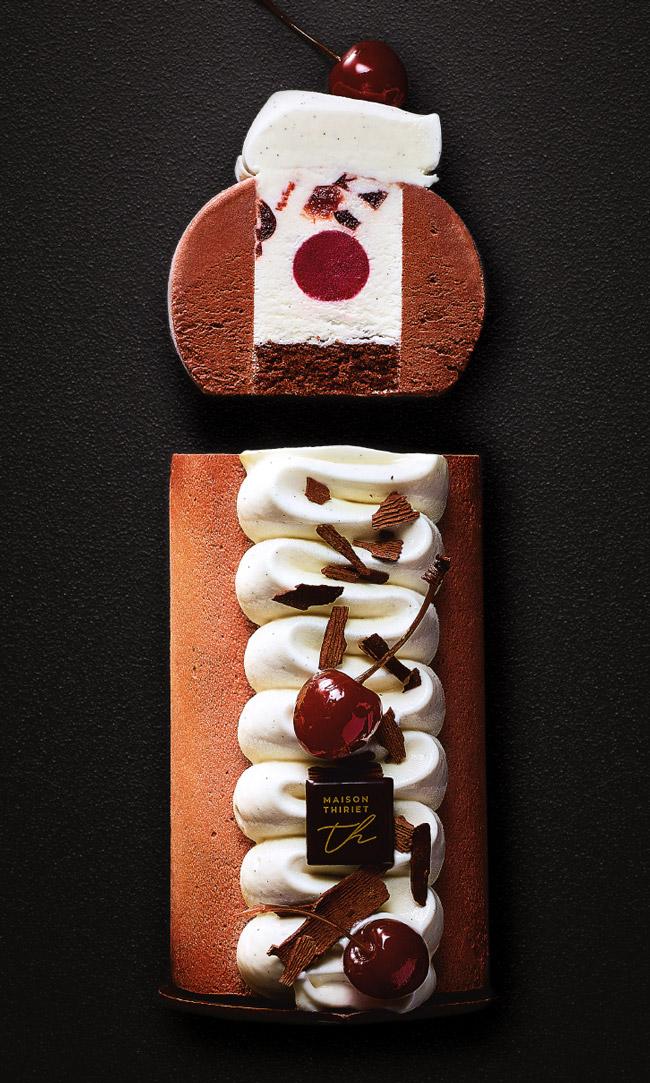 Desserts glacés à partager - Entremets glacé façon forêt noire