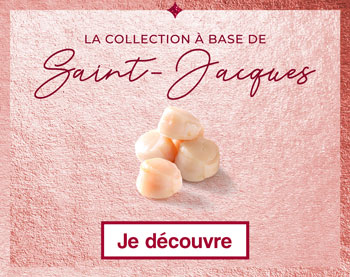 La collection à base de Saint-Jacques Thiriet pour Noël