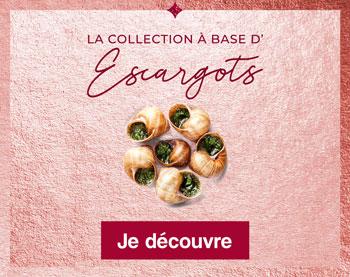 La collection à base d'Escargots Thiriet pour Noël
