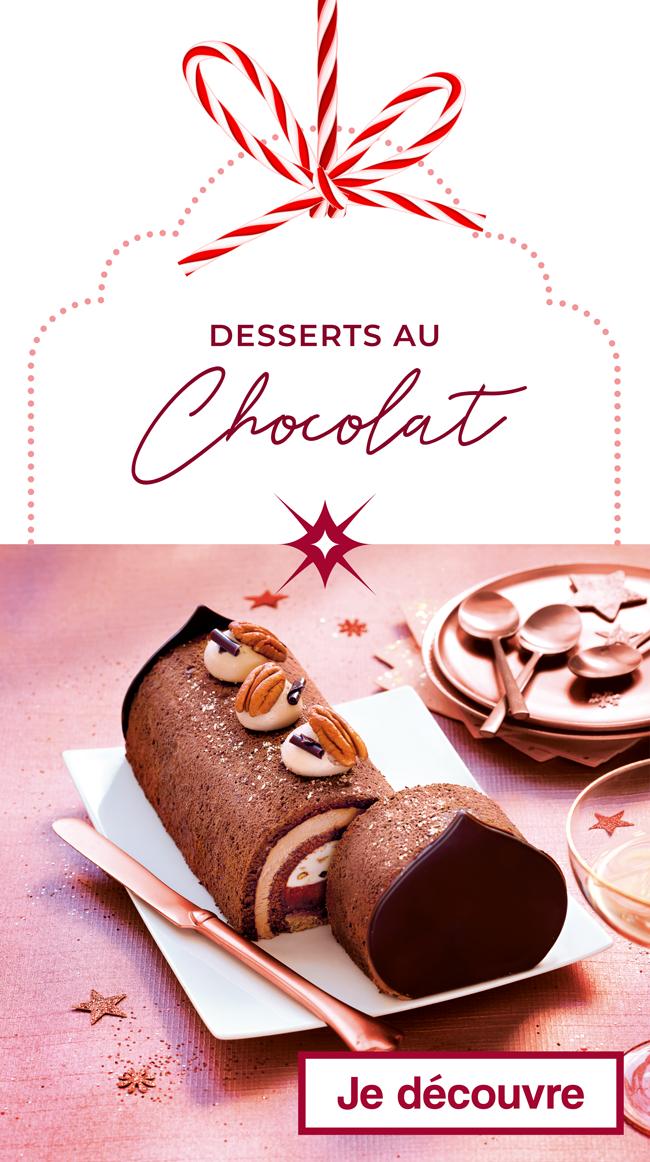 Les desserts au Chocolat de Noël Thiriet