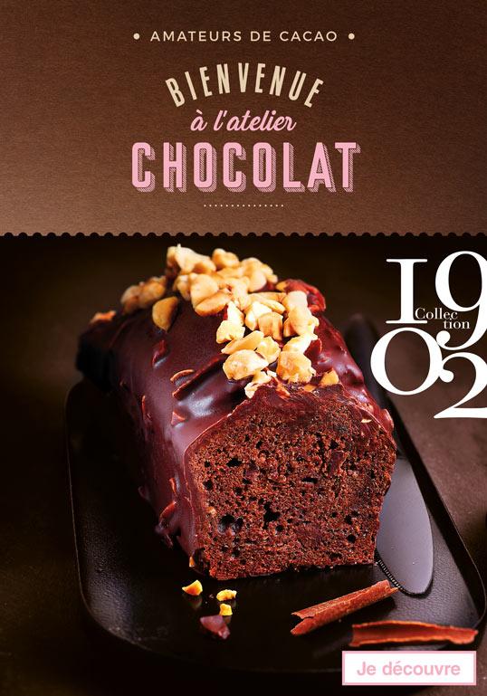 Amateurs de cacao, bienvenue à l'atelier chocolat ! À l'attention de tous les amateurs de cacao : l'atelier chocolat vous a réservé de belles surprises pour Pâques ! Travaillé en pâtisserie ou en glace, le chocolat noir, au lait ou blanc se dévoile et se