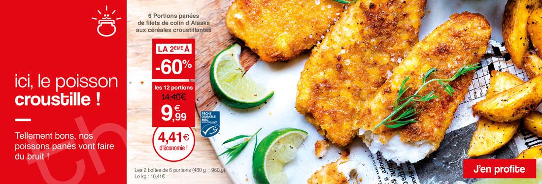 Le poisson en promotion croustille chez Maison Thiriet !