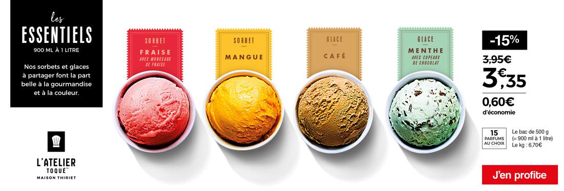 Les sorbets et glaces de Maison Thiriet dont la part belle à la gourmandise !