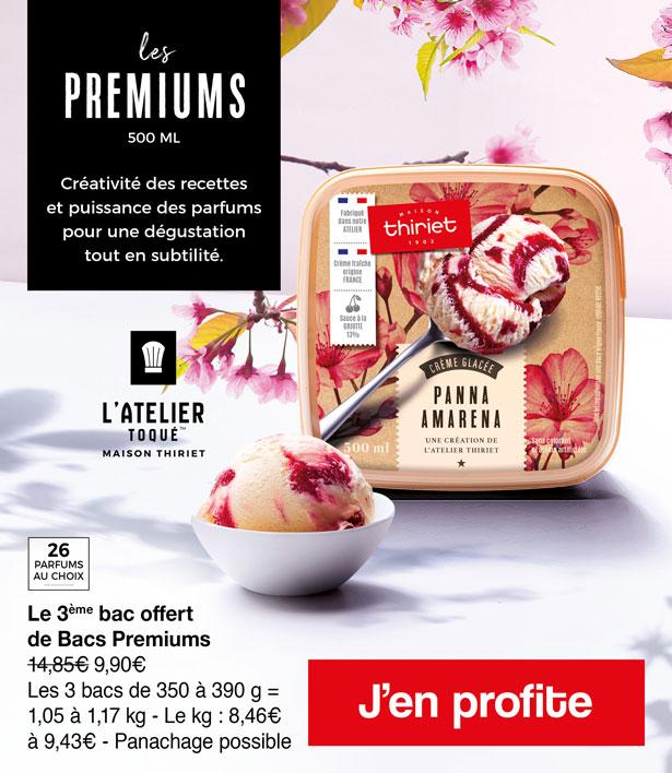 Les glaces premiums de la Maison Thririet