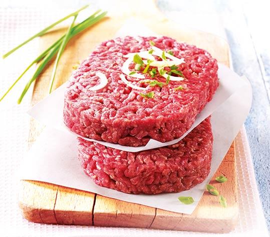 4 Steaks hachés pur boeuf 12% M.G. race Salers