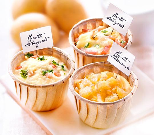 Mini spécialités aux fromages de nos régions