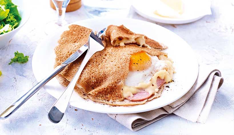 Galettes complètes œuf/jambon/emmental
