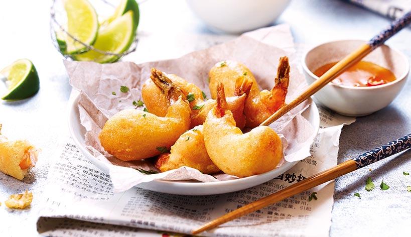 Beignets de crevette asiatiques