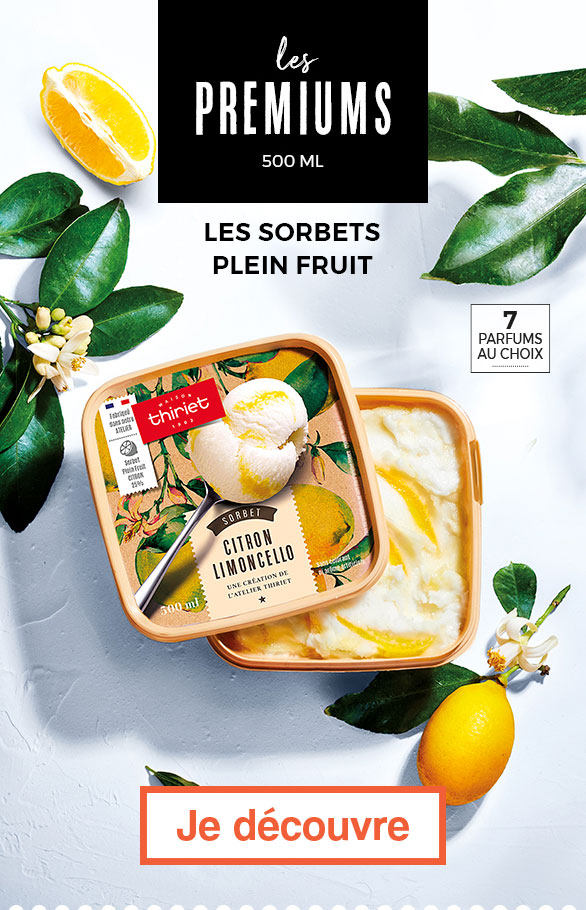Les sorbets plein fruit premiums
