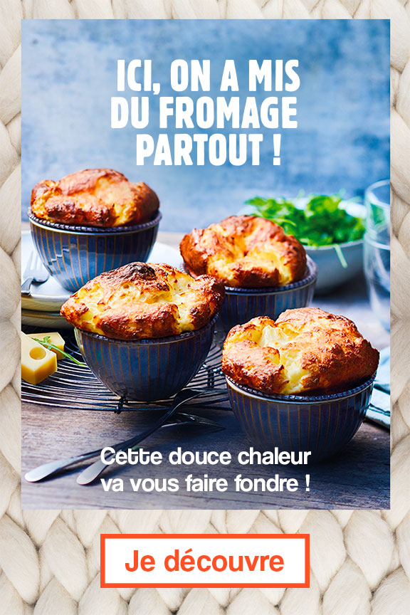 Ici, on a mis du fromage partout !