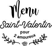 Menu Saint-Valentin pour 2 amoureux