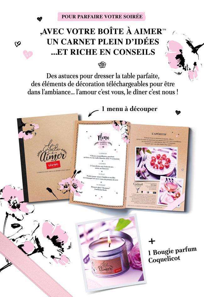 Un carnet plein d'idées et riche en conseils pour une soirée en amoureux par Maison Thiriet