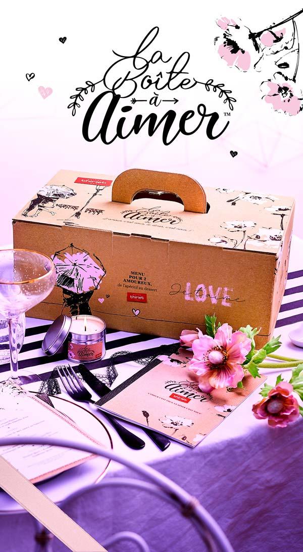 Repas pour une soirée en amoureux, découvrez la Boîte à aimer™